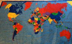 World map fabric map fabric and fabrics large world map fabric panel gumiabroncs Images