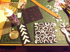 make your own stamps and textures for the gelli plate