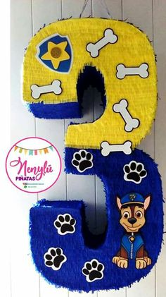 Número 3 Paw Patrol #nenylupiñatas #party #PawPatrol Paw Patrol Pinata, Paw Patrol Party, Paw Patrol Birthday, Boy Birthday Parties, Baby Birthday, Diy And Crafts, Minnie Mouse, Elmo Party, Toddler Boy Birthday