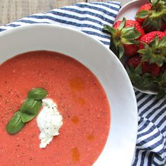 Strawberry and Tomato Gazpacho