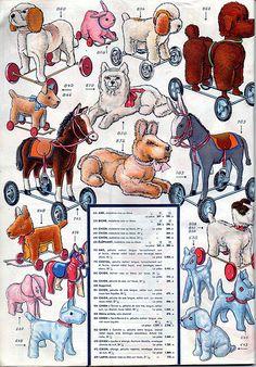 53 p33 pull-along plush toys dog elephant deer horse donkey | Flickr - Photo Sharing!