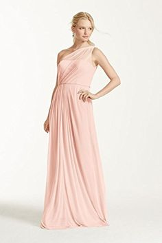 Long Mesh Bridesmaid Dress with One Shoulder Neckline Style F15928, Petal, 0 David's Bridal http://www.amazon.com/dp/B00SPVM4YG/ref=cm_sw_r_pi_dp_eQ-cxb1WGNX9N