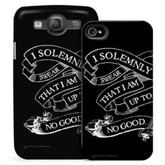 Harry Potter Solemnly Swear Black Phone Case for iPhone. Ok. I *need* this. But the dilemma is...do I replace my case that has my kids on it? Seriously, that IS a dilemma.