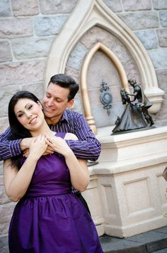 Disneyland Engagement photos. They even posed with characters! Super cute :)