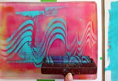 Thick and Thin Gelli Printing ... And Our New Badge!!! New Blog post and video tutorial on Viscosity Printing with the Gelli Arts printing plate!