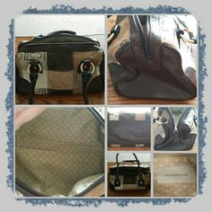 👜 Liz Claiborne Mini Handbag 👜 ❌FINAL❌ Woman's little handbag with double handles zipper closure and zippered interior pocket. This bag is super cute and has a pretty pattern with different textures as well as brown trim and also on the handles.  only used a couple of times lots of life left in this cutie 🚫 NO TRADES 🚫 PayPal 🚫 PRICE IS FINAL MARKDOWN  👜 Liz Claiborne Bags
