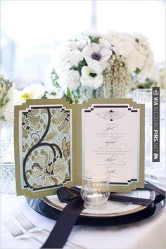 romantic wedding stationery with an art deco feel from Alchemy Fine Events. | VIA #WEDDINGPINS.NET