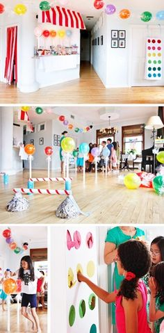 Candyland party games and activities - candy obstacle course candyland-birthday-party