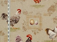 Kitchen fabric from Brick House Fabric: Novelty Fabric French Decor, French Country Decorating, Country French, Kitchen Fabric, Kitchen Curtains, Paisley Fabric, Novelty Fabric, Curtain Fabric, Rooster