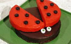 Look at this recipe - Ladybird cake - from Food Network Kitchens and other tasty dishes on Food Network. Ladybug Picnic, Ladybug Garden, Ladybug Party, Ladybug Food, Ladybug Decor, Cake Recipe Food Network, Food Network Recipes, Miraculous, Ladybird Cake
