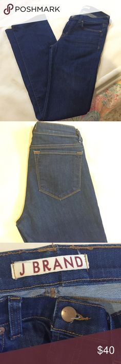 J Brand Dark wash indigo Boot cut Jeans Size 27 Great jeans for fall! Worn only twice J Brand Jeans Boot Cut