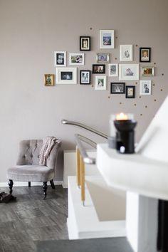 Vorraum - neue Wandfarbe mit Kupferkonfetti