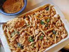 Baked Penne with Chicken, Broccoli & Smoked Gouda #casseroles #recipes