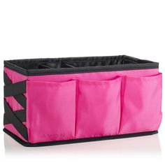 Get it together! Fill this cavernous open-top beauty organizer to the brim and keep counters clutter-free! Removable inside dividers and handy outside pockets organize your Avon essentials. Regularly $9.99, shop Avon Cosmetics online at http://eseagren.avonrepresentative.com
