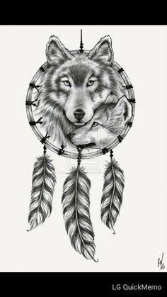 Wolf / Dream catcher