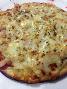 Pizza de harina de garbanzo