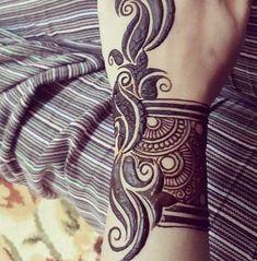 Henna Designs Wrist, Hena Designs, New Mehndi Designs, Henna Tattoo Designs, Mehandi Designs, Art Designs, Henna Arm, Henna Body Art, Hand Henna