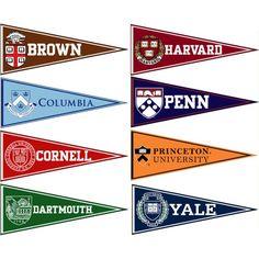 Ivy League Felt Pennant Set                              …