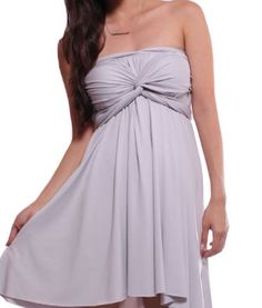 Convertible Bridesmaid Wrap dress in light ash grey S M L XL XXL. $45.00, via Etsy.
