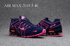 67109ba6b7a3a Air Max 2018 Flyknit Women Blue Pink Pink And Black Nikes