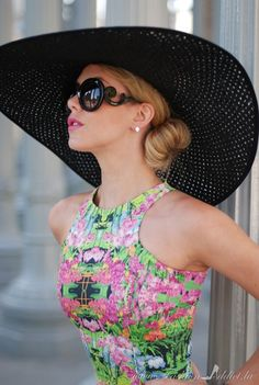 Glam, Retro '40's Hat | Summer