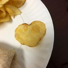 Look at the potato chip in my lunch today!!  My angels knew I was having a rough one & here they are saying love ya!