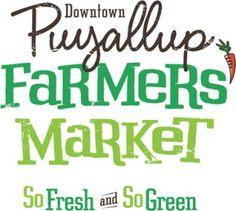 puyallup farmers market- So fresh and so green...green.