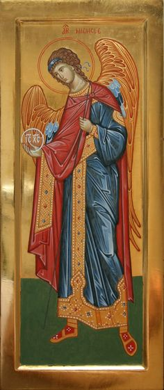 San Michele Arcangelo icona per mano di Giuliano Melzi (Italy)