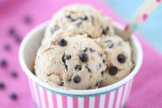 Chocolate Chunk Cookie Dough Frozen Yogurt-