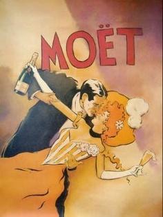 MOET (COUPLE DANCING) Vintage Poster