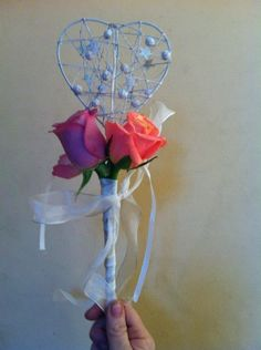 Flowergirl Wand  #WeddingAccessories #Weddings #Flowergirl