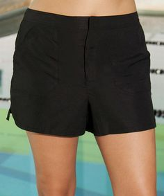 Look what I found on #zulily! Black Cargo Boardshorts - Women & Plus by Aquabelle #zulilyfinds