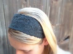 This is my favorite new headband!!! LOVE LOVE LOVE it!! Black Lace Elastic Headband at twistedflowers on Etsy.
