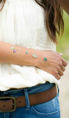 Pretty layered bracelets