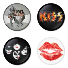 "KISS 1.75"" Badges Pinbacks, Mirror, Magnet, Bottle Opener Keychain http://www.amazon.com/gp/product/B00C3TVT38"