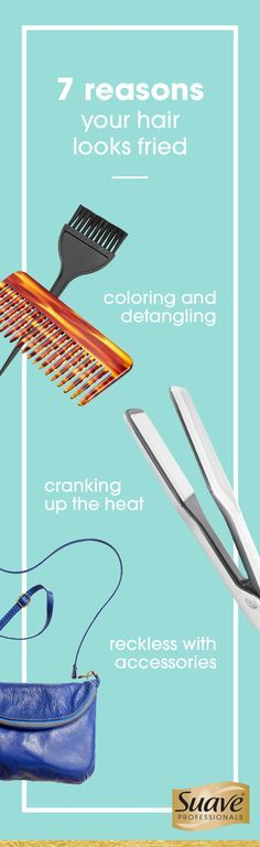 Take hair from dry and fried to smooth and healthy-looking with these simple tips. No really— it's just a matter of tweaking your styling routine and breaking these bad habits. It could be as simple as turning down the heat on your curling iron or straightener. Or adding a moisture rich product to your shower routine. And ready to have your mind blown?! Fried hair no-no #5 on the list is a major cause of hair breakage...who would have thunk it?! Click through & break these bad habits.
