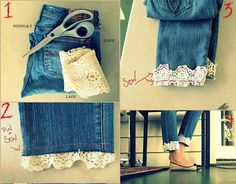 Revamp those denims in your closet with these 11 ways to DIY your Denim by DIY Ready at http://diyready.com/11-ways-to-diy-your-denim