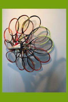 Raquetes que viram arte de Felipe Barbosa
