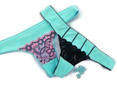 Sexy Women's Thongs Panties Woman Lingerie Baby blue Lace Panties Underwear Exotic Dancewear Gogo wear  Underwear Lace Lingerie