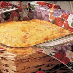 Brunch Casserole8 eggs 1 cup milk 1/2 teaspoon seasoned salt 2 cups frozen shredded hash brown potatoes 1 cup diced fully cooked ham 1 cup (4 ounces) shredded cheddar cheese 1 tablespoon dried minced onion