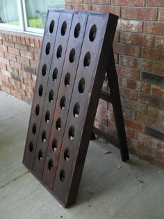 French Riddling Rack Wine Rack Riddling by CozyCreekWoodworking