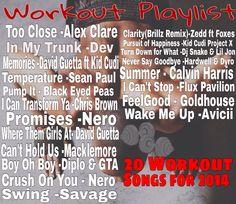 Fast-pace Workout Playlist 2014 EDM, Hip hop, Dubstep music.