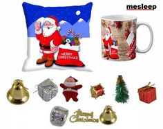 Selecting Christmas decoration items can be a hectic affair, yet there is an easy way to get the same, here is a simple recommendation for you.  We bring you this amazing Christmas combo that encompasses micro fibre cushion cover, microwave safe ceramic mug and a plethora of Christmas decoration items such as Balls, Gift Hangings, Santa, Drums, Christmas Tree and Dry Flower.