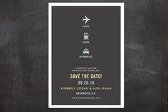 Planes Trains Automobiles Save The Date Postcards... | Minted