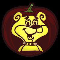 Sugar Bear - Pumpkin Stencil