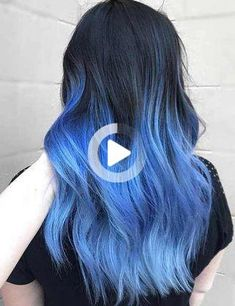 Mermaid hair has been trending since last year. Following, We've put together, a list of gorgeous mermaid hair color ideas for you to try at home. Have a look Protective Hairstyles For Natural Hair, Natural Hair Styles, Long Hair Styles, Blue Ombre Hair, Hair Color Blue, Chin Length Bob, Vernis Semi Permanent, Mermaid Hair, Protective Styles