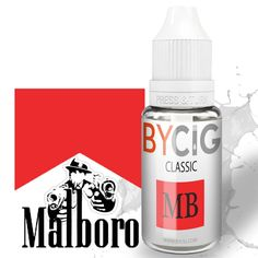 E-Liquide Marlboro 11ml BYCIG Flacon de E-liquide parfum Marlboro Classic. Au plus proche du tabac,retrouvez les sensations de vos gouts préférés!