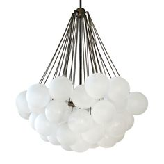 """Large Custom """"Cloud"""" Chandelier-i could make with balloons and ribbon..."""