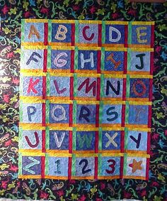 Lowercase alphabet quilt pattern | The Diversity of the Alphabet ... : alphabet baby quilt pattern - Adamdwight.com