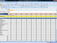 rental income spreadsheet template
